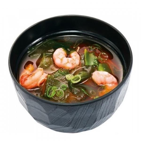 Мисо-суп с тигровыми креветками